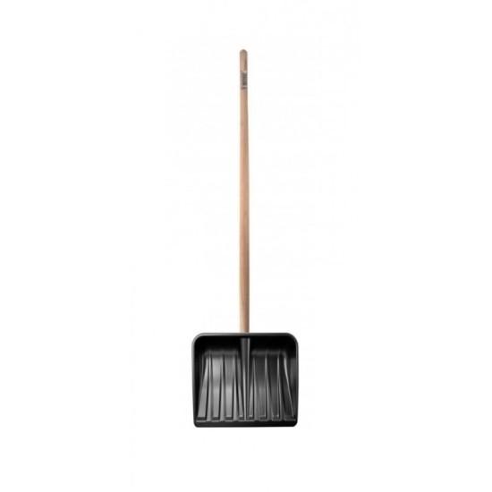 Lopata plastična za sneg sa drškom- crna 4032